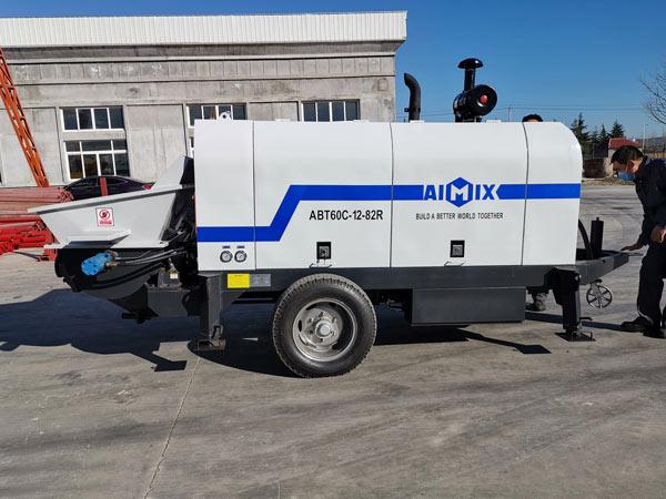ABT60C portable concrete pump to Uzbekistan