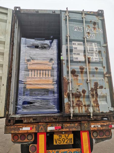 AIMIX hydraulic block machine to Honduras