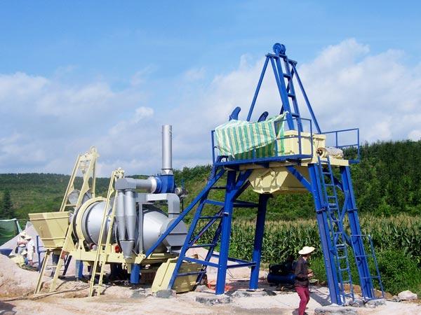Fábrica de asfalto móvel de tambor ALYJ-20