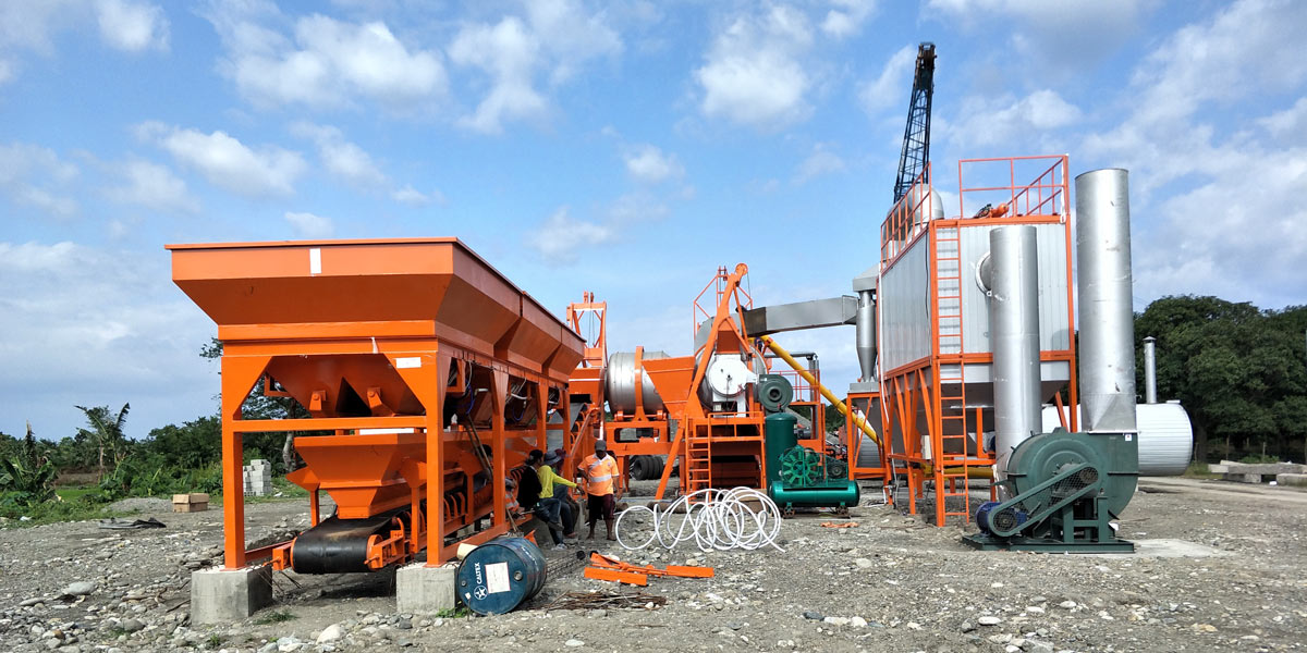 ALYJ-60 double drum asphalt plant