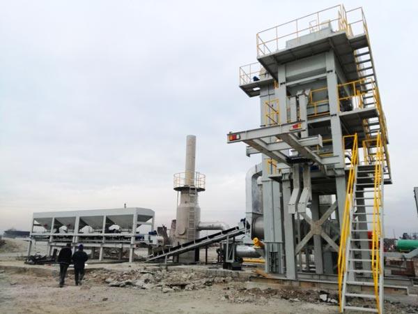 ALYQ100 asphalt batching plant mobile