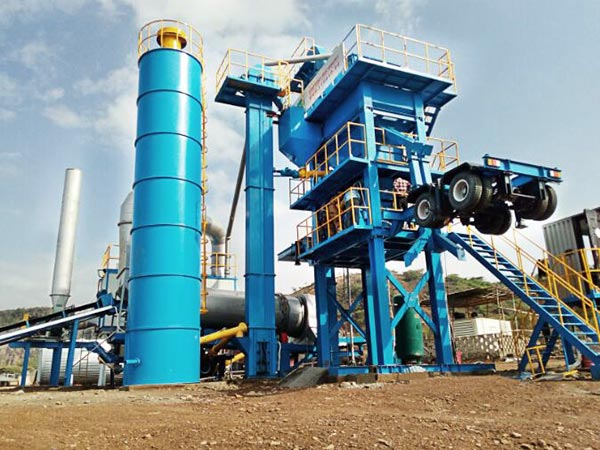 ALYQ80 mobile asphalt batch plant