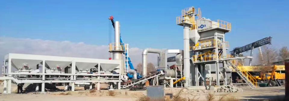 AYLQ100 mobile asphalt batch plant in Kazakhstan