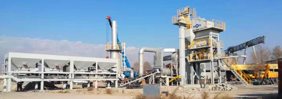 Usina de lote de asfalto móvel AYLQ100 no Cazaquistão