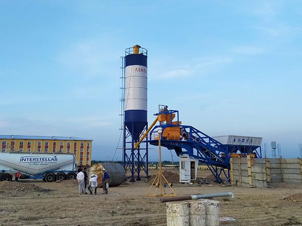 Small Concrete Batch Plant In Uzbekistan