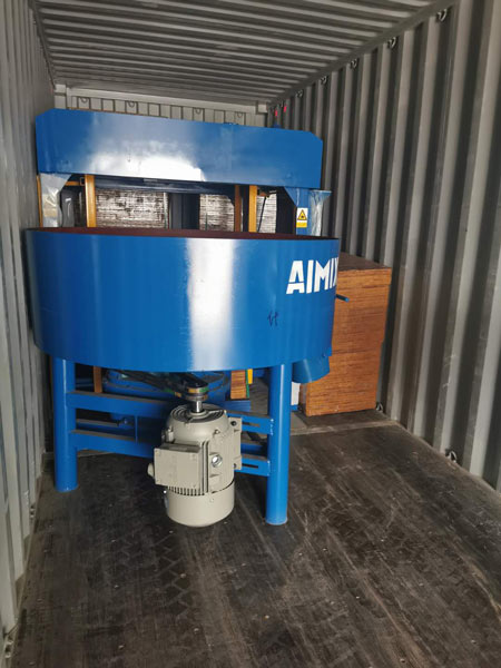 concrete pan mixer of hollow block machine