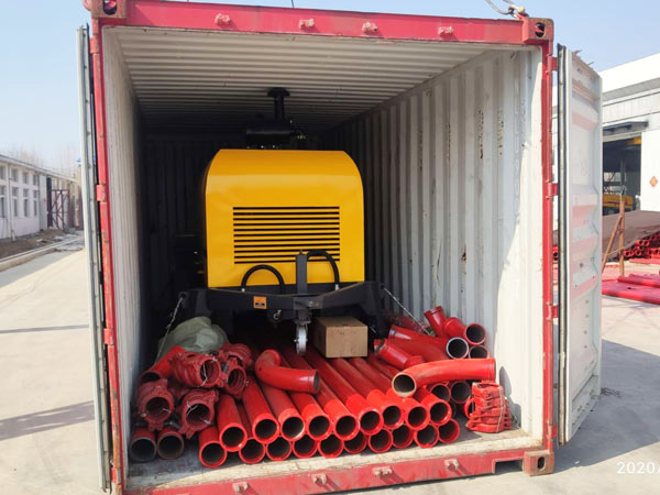 concrete trailer pump was to Indonesia