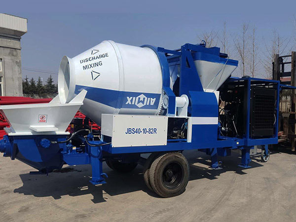 diesel powered concrete mixer pump Indonesia