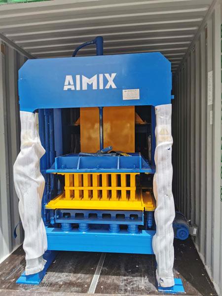 hollow block machine shipment