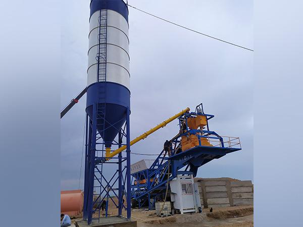 installation of Small Concrete Batch Plant In Namangan Uzbekistan