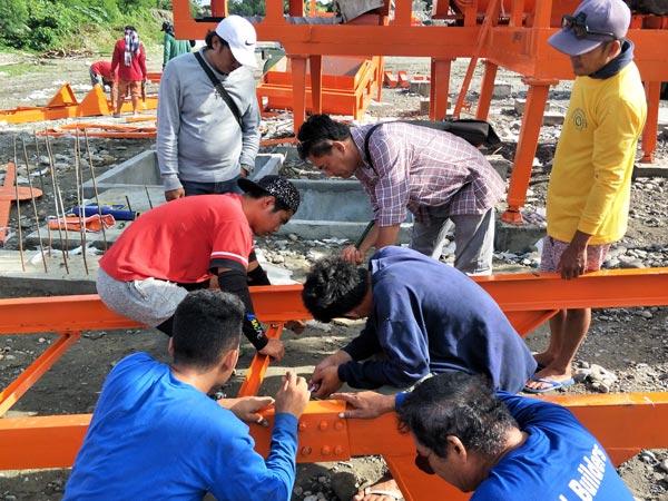 installation of double drum portable asphalt plant