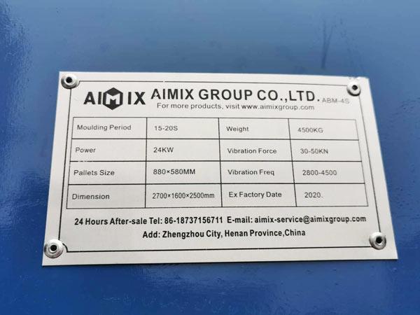 makmeplate of ABM-4S hollow block machine
