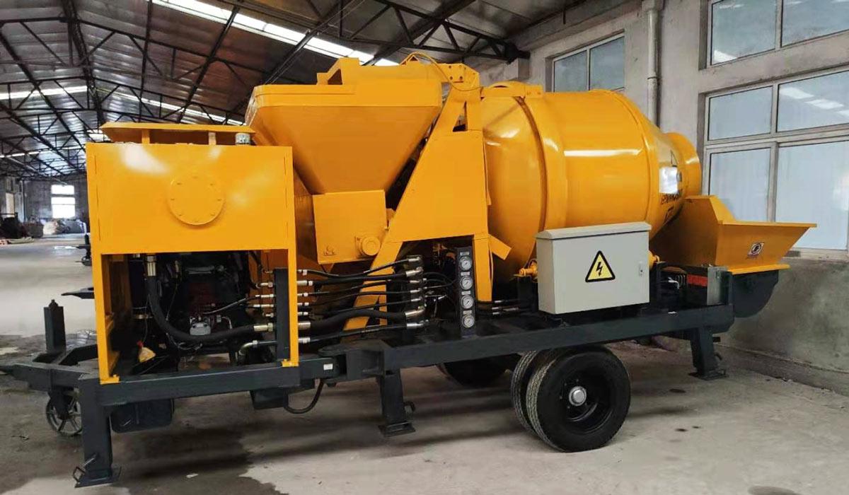 mini diesel concrete mixer pump
