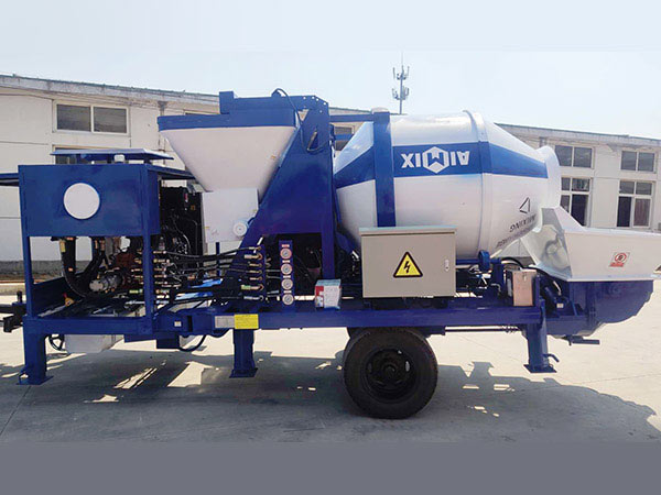 mini diesel engine concrete mixer with pump