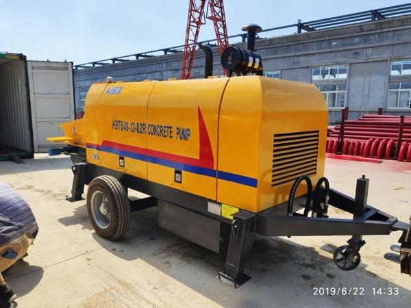 portable concrete pump to Malaysia