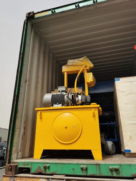 ship ABM-4S hollow block machine to Malaysia