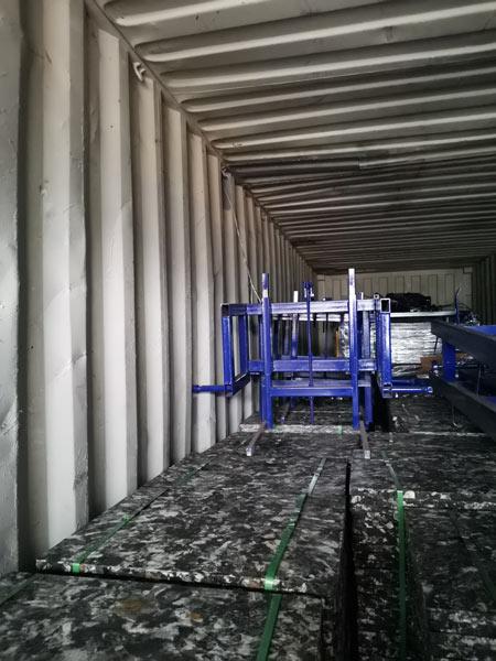 transport hydraulic block machine to Honduras