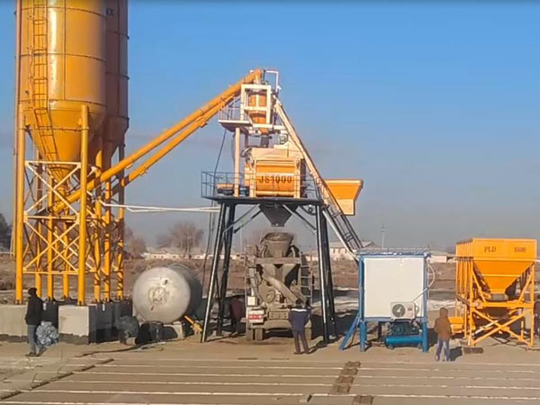 AJ-50 hopper concrete plant Uzbekistan