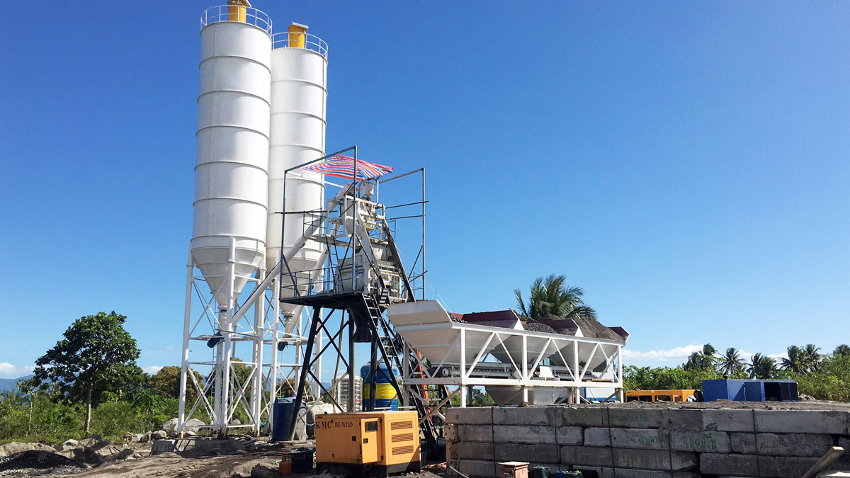 AJ50 Skip hoist type concrete plant in Philippines