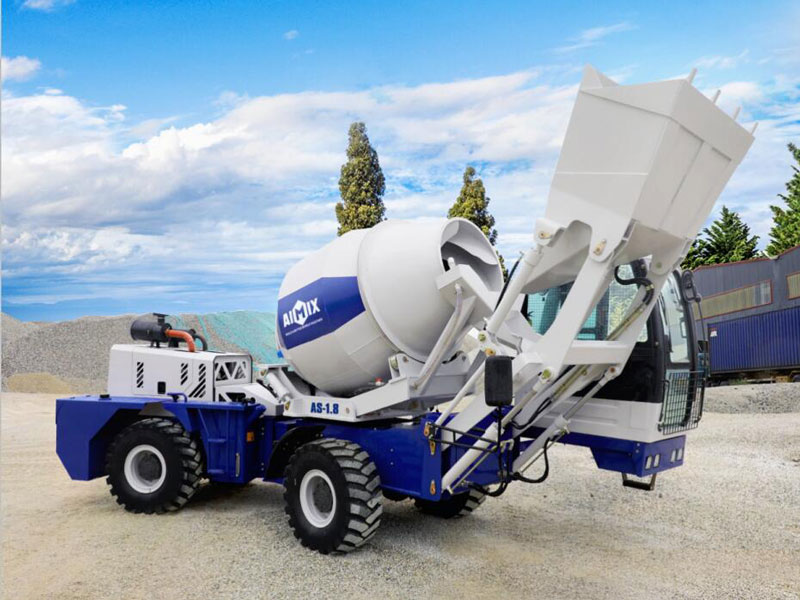 AS-1.8 self loading concrete transit mixer