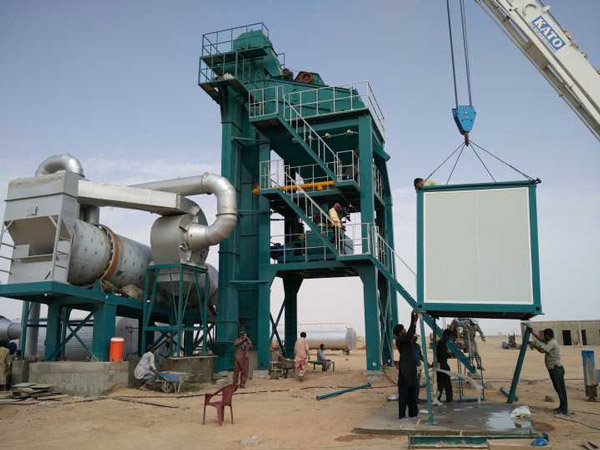 ALQ120 Stationary asphalt plant in Pakistan