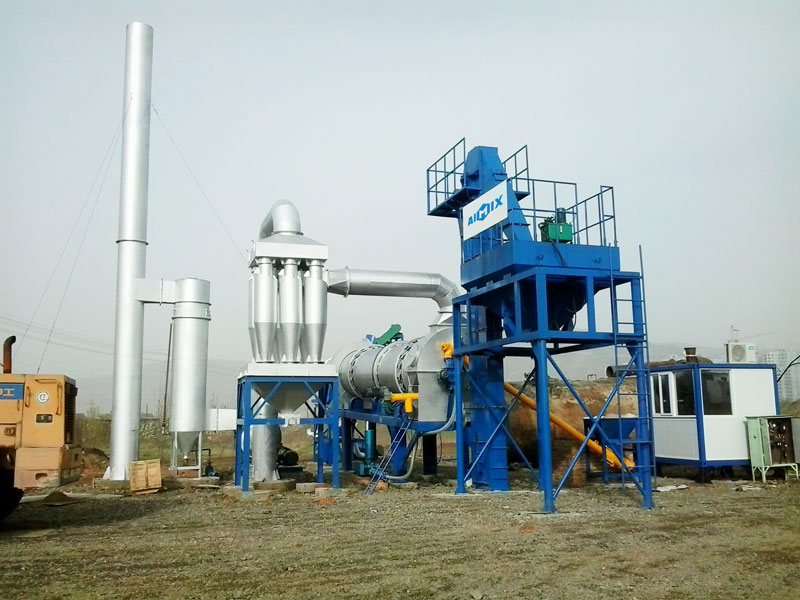 ALT60 mobile drum mix plant was installed successfully in Afghan