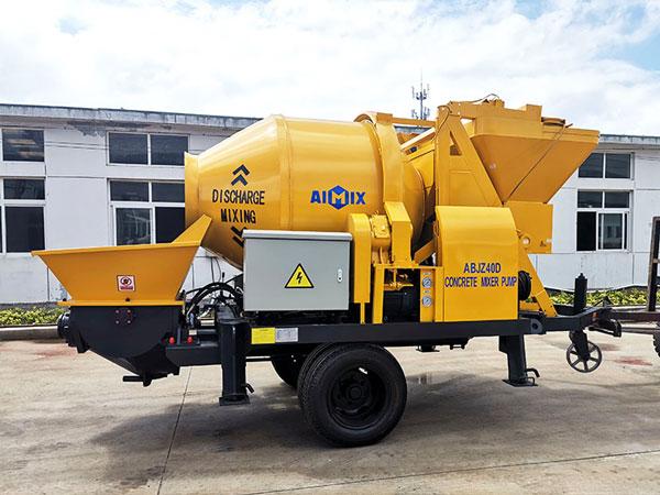 AIMIX concrete mixer pump to Indonesia