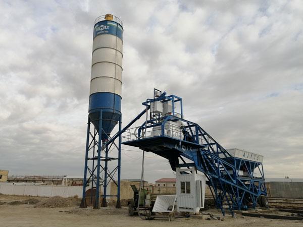 AJY-35 mobile concrete batch plant Uzbekistan