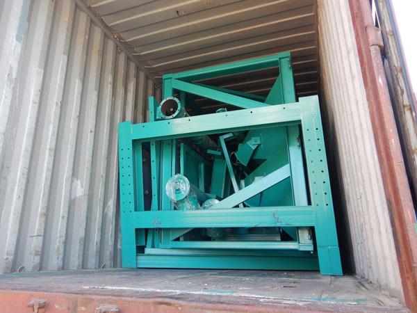 concrete plant machine delivery