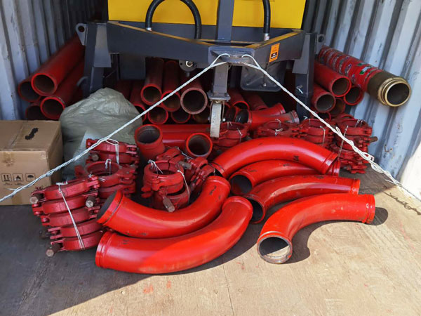 concrete pump delivery