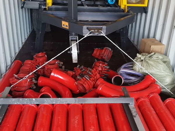electric concrete mixing pump to Indonesia