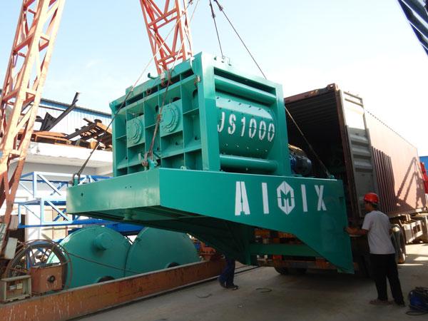mobile concrete plant delivery
