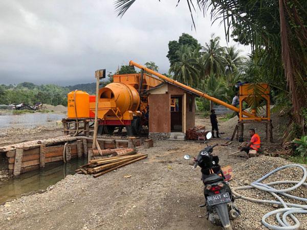 portable concrete batch plant-Indonesia