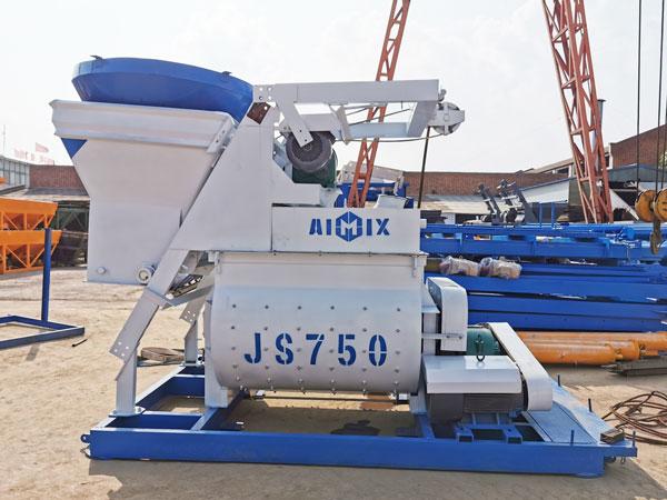 twin shaft mixer of AJ-35 plant