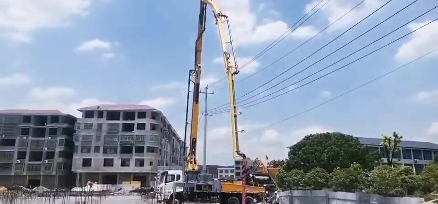 21m truck mounted boom pump machine