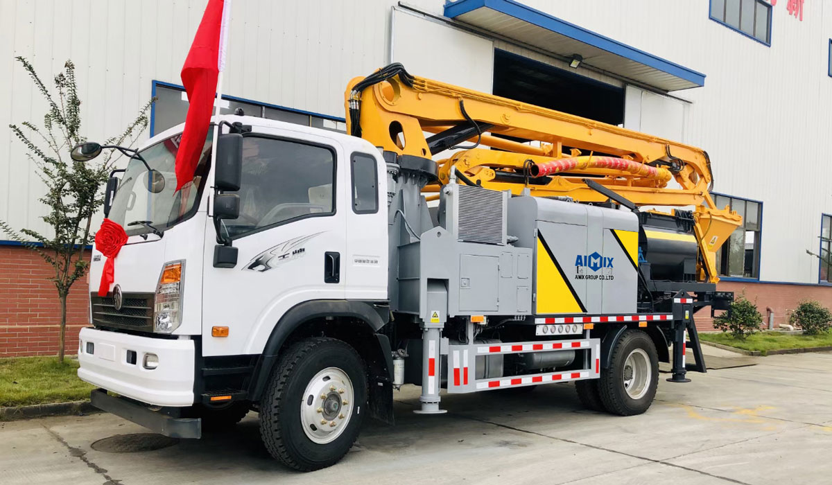 21m truck mounted concrete boom pump