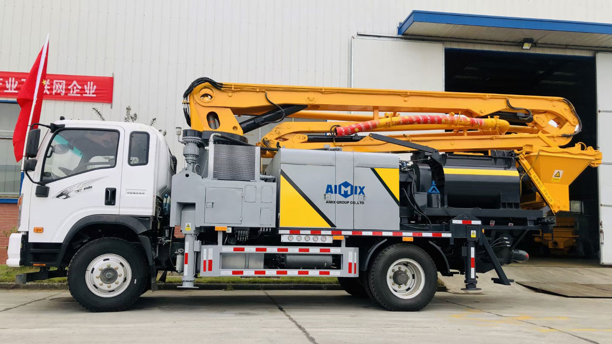 34m truck mounted concrete boom pump