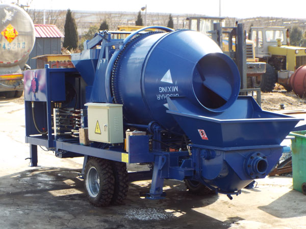 ABJZ30C diesel concrete mixer pump