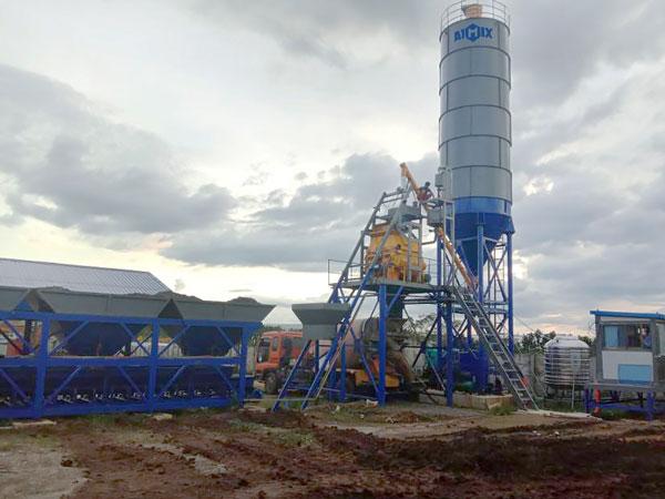 Pequena fábrica de concreto AJ-35 nas Filipinas