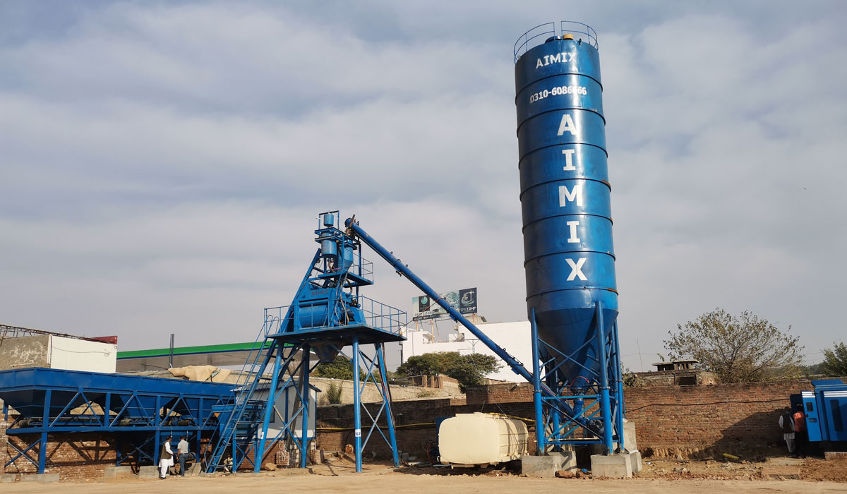 Fábrica de concreto AJ-50 no Paquistão