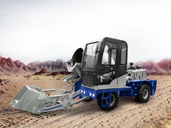 AS-1.2 self loading concrete mixer with pump