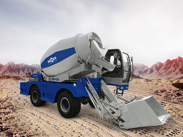 AS-4.0 self loading concrete mixer with pump