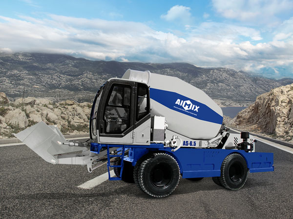 AS-6.5 self loading concrete mixer with pump