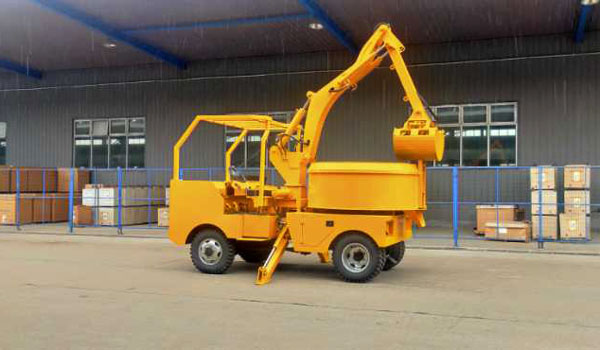 Self Grab Bucket Concrete Mixer Truck