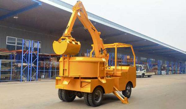 Self Grab Bucket Concrete Mixer Trucks