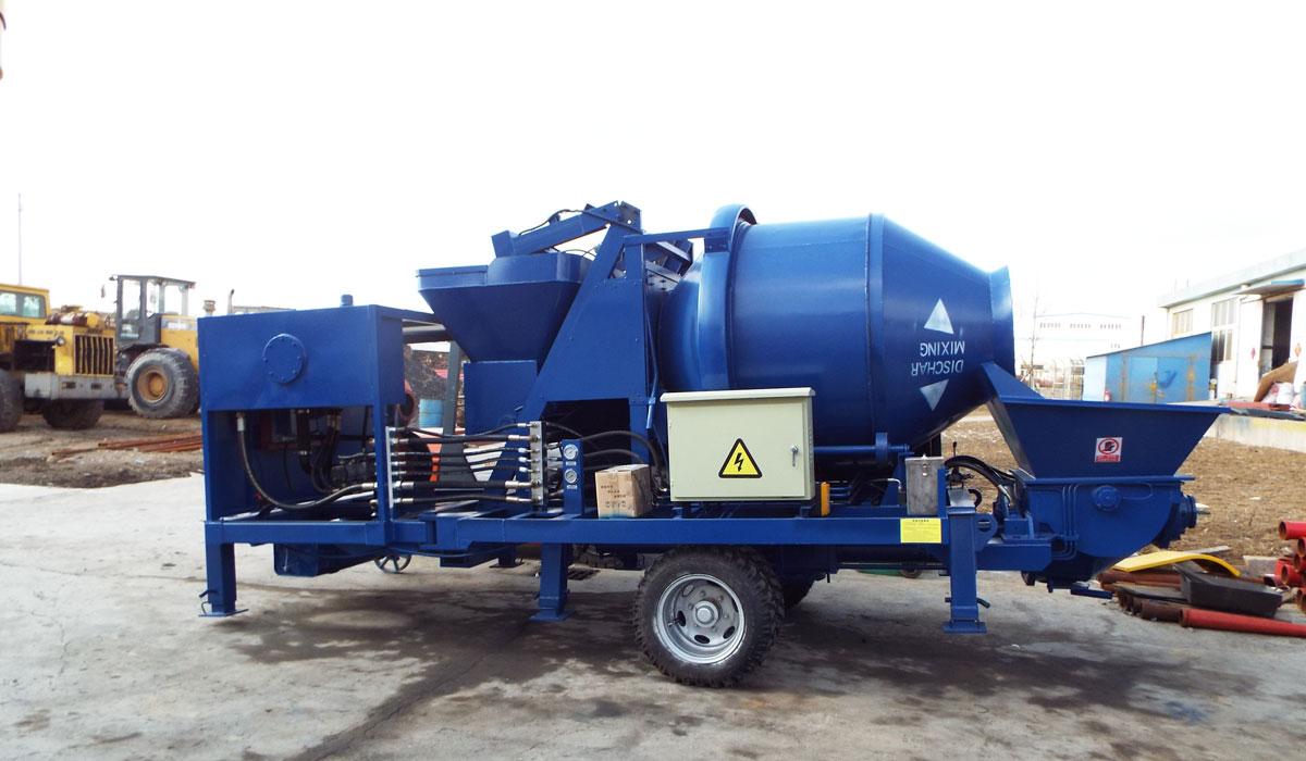 concrete mixer pump machine