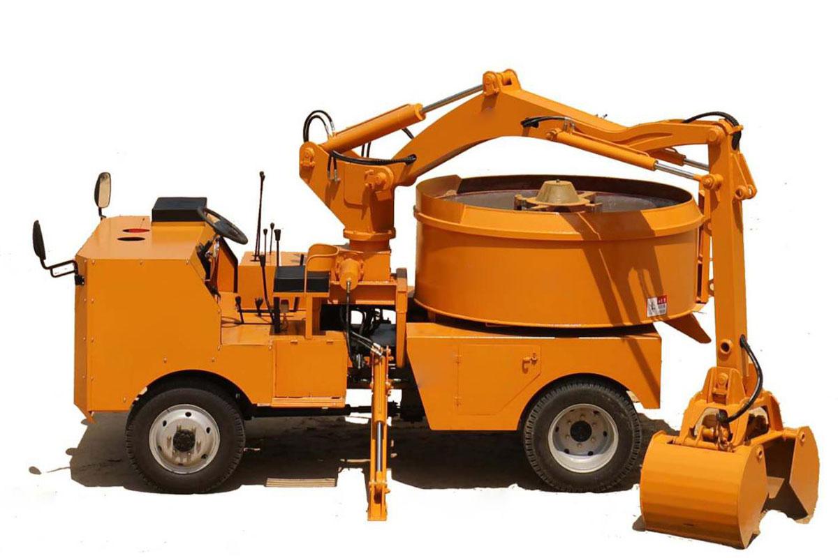 self grab bucket mixer truck concrete