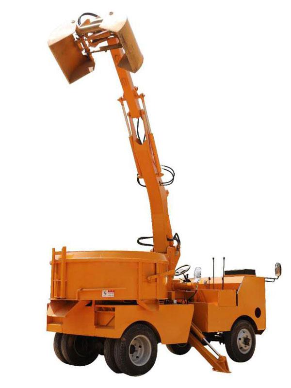 self grab bucket mixer truck machine