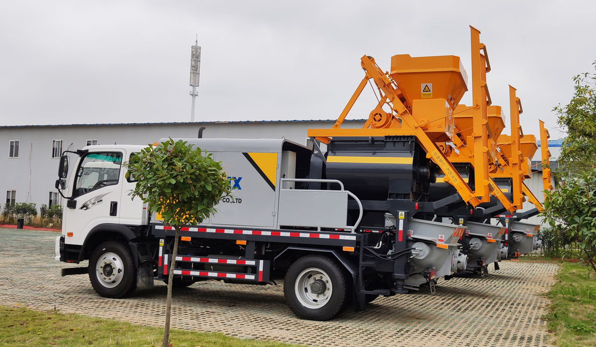 truck-mounted concrete pump machine