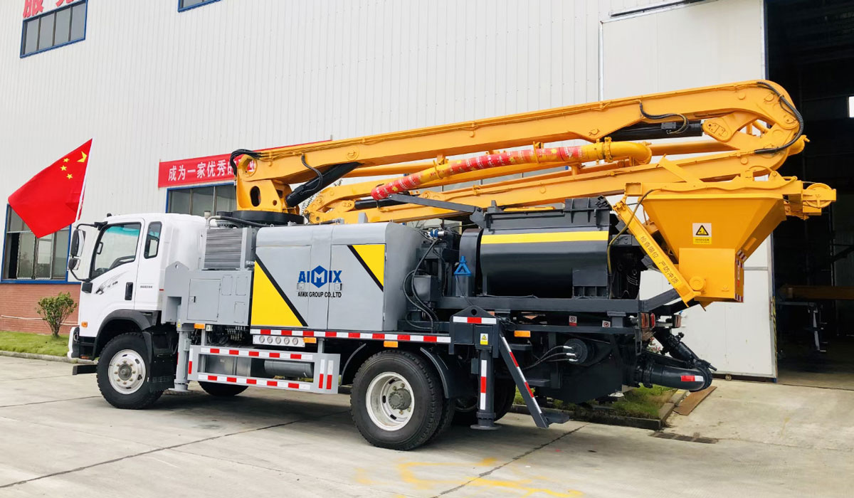 21m truck mounted concrete line pump